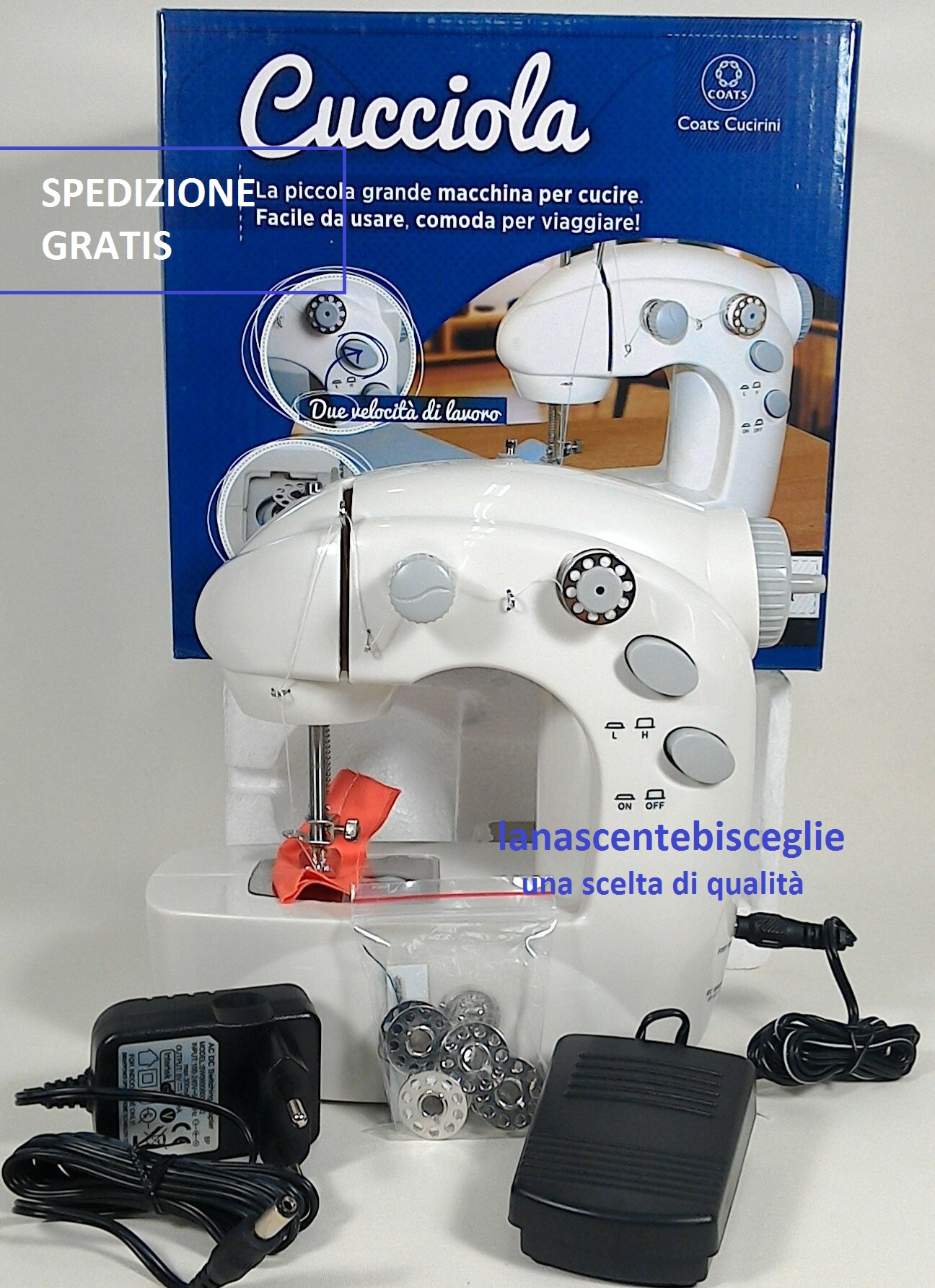 La nascente bisceglie utensili merceria for Pedale elettrico per macchina da cucire